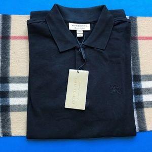 Burberry Shirts - BURBERRY LONDON MEDIUM BLACK POLO SHIRT NWT
